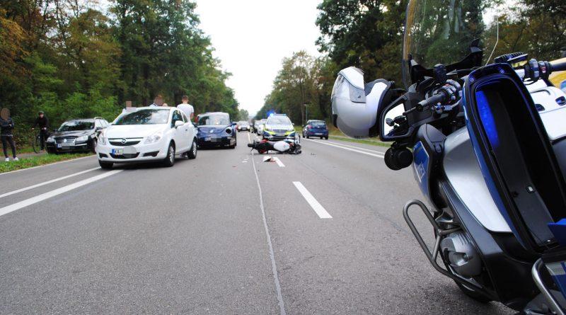 Karlsruhe: Motorradfahrer beim Unfall am Konrad-Adenauer-Ring schwer verletzt – 26.09.2016