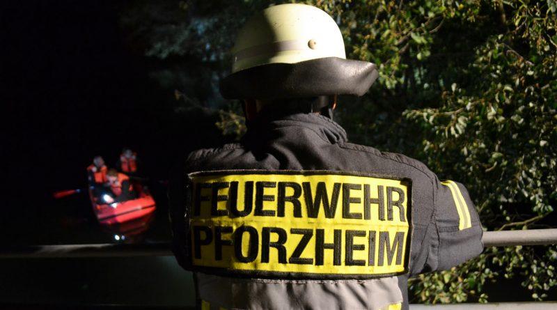 Eutingen: Stundenlange Suche nach einer Person in der Enz – 03.10.2016