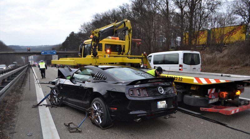 A8 bei Pforzheim: Auffahrunfall mit 4 verletzten Personen – 18.02.2017