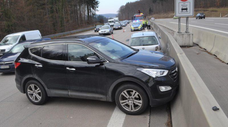 A8 zw. Karlsbad und Pforzheim-West: Unfall nach Rechtsüberholen – 19.02.2017