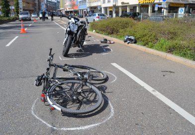 Pforzheim: Fahrradfahrer nach Zusammenstoß mit Motorrad schwer verletzt – 25.03.2017