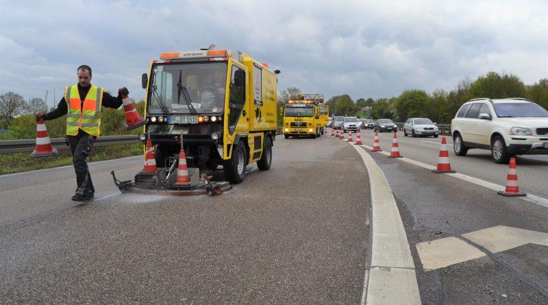 A8 bei Pforzheim-Ost: Auffahrt- und Abfahrtssperrungen wegen Ölspur – 17.04.2017