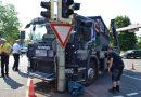Pforzheim: Fahrer abgelenkt – Mit Container-LKW gegen Ampelmast – 21.06.2017