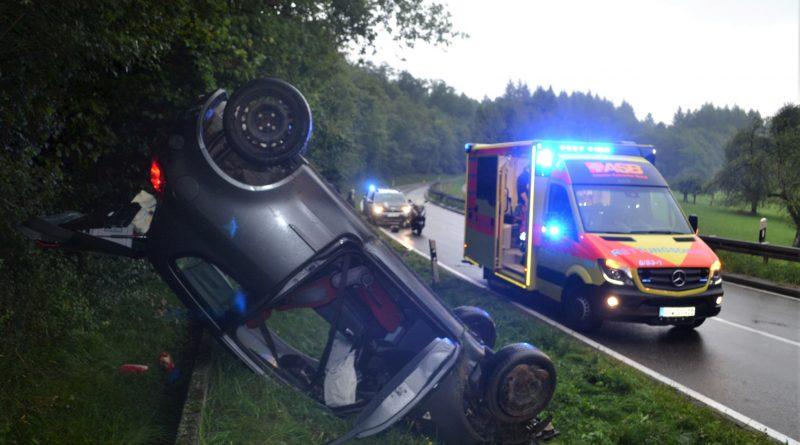 zw. Ersinger Kreuz und Ersingen – mit Fahrzeug überschlagen – 11.08.2017