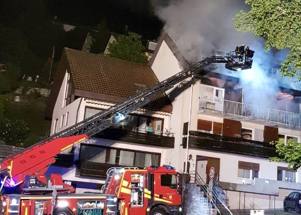 Bad Wildbad: 10.000€ Sachschaden nach Dachstuhlbrand – 06.05.2018